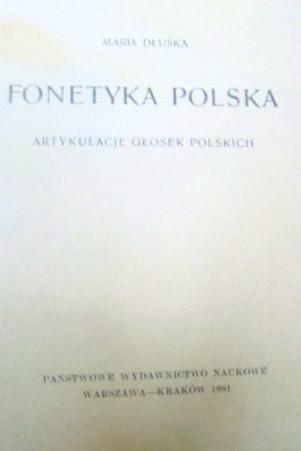 Okładka książki Fonetyka polska