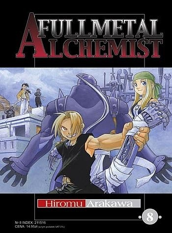 Okładka książki Fullmetal Alchemist t. 8