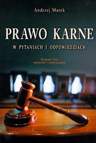 Okładka książki Prawo karne w pytaniach i odpowiedziach