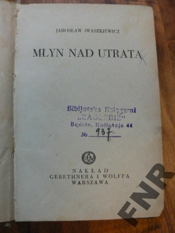 Okładka książki Młyn nad Utratą