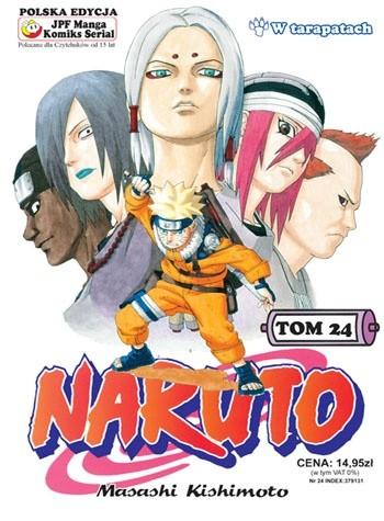 Okładka książki Naruto tom 24 -  W tarapatach