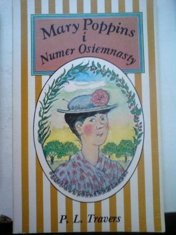 Okładka książki Mary Poppins i numer osiemnasty