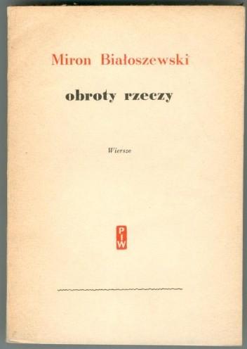 Okładka książki Obroty rzeczy : wiersze