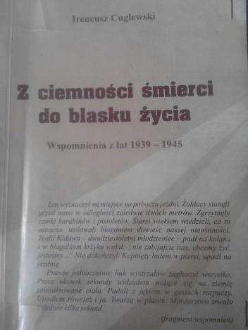Okładka książki Z ciemności śmierci do blasku życia. Wspomnienia z lat 1939-1945