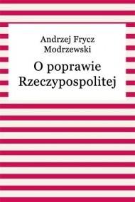 Okładka książki O poprawie Rzeczypospolitej