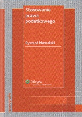Okładka książki Stosowanie prawa podatkowego