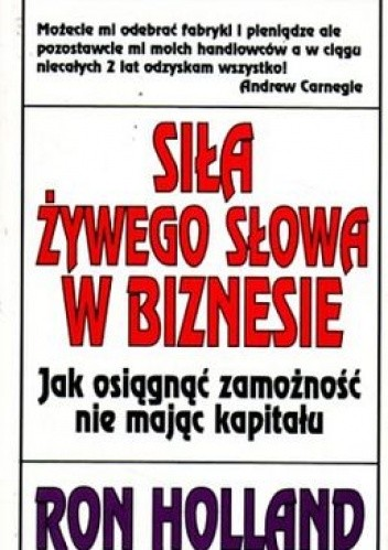 Okładka książki Siła żywego słowa w biznesie
