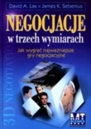 Okładka książki NEGOCJACJE W TRZECH WYMIARACH