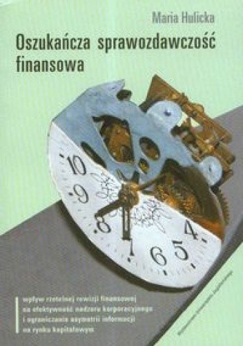Okładka książki Oszukańcza sprawozdawczość finansowa