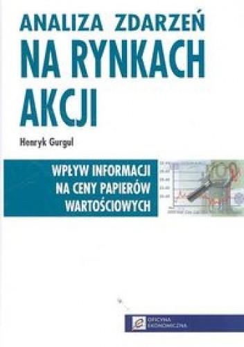 Okładka książki Analiza zdarzeń na rynkach akcji