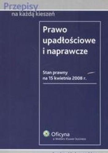 Okładka książki Prawo upadłościowe i naprawcze