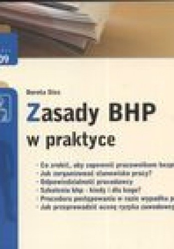 Okładka książki zasady BHP w praktyce