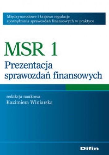 Okładka książki MSR 1 Prezentacja sprawozdań finansowych