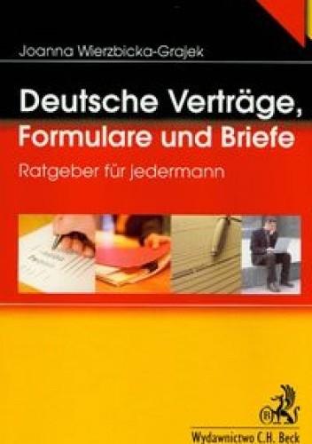 Okładka książki Deutsche vertrage, Formulare und Briefe