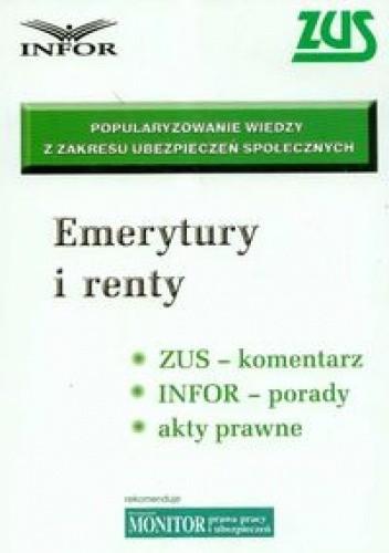 Okładka książki Emerytury i renty