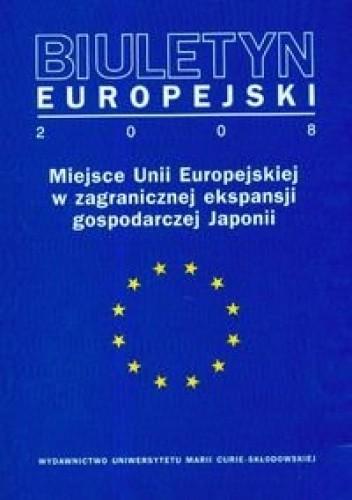 Okładka książki Biuletyn Europejski 2008
