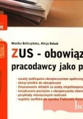 Okładka książki zUS. Obowiązki pracodawcy jako płatnika - TKE 2009