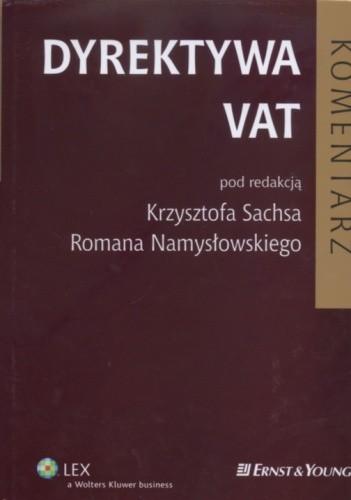 Okładka książki Dyrektywa VAT Komentarz
