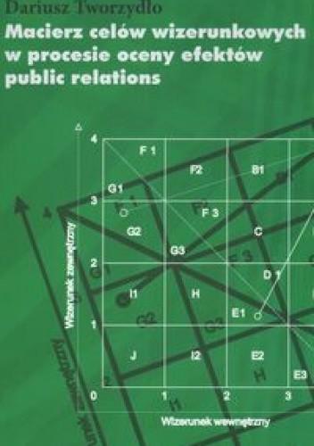 Okładka książki Macierz celów wizerunkowych w procesie oceny efektów public relations