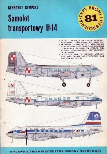 Okładka książki Samolot transportowy Ił-14