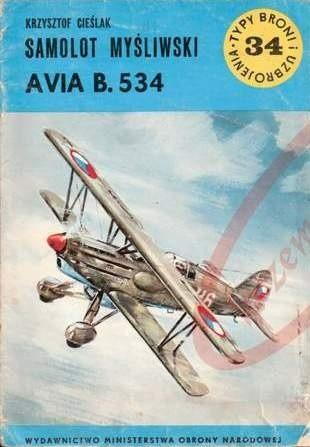 Okładka książki Samolot myśliwski Avia B.534