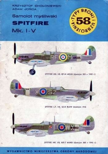 Okładka książki Samolot myśliwski Spitfire Mk.I-V