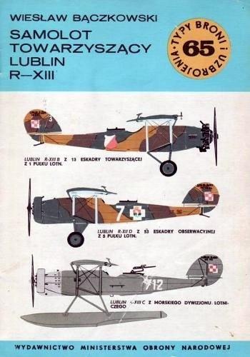 Okładka książki Samolot towarzyszacy Lublin R-XIII