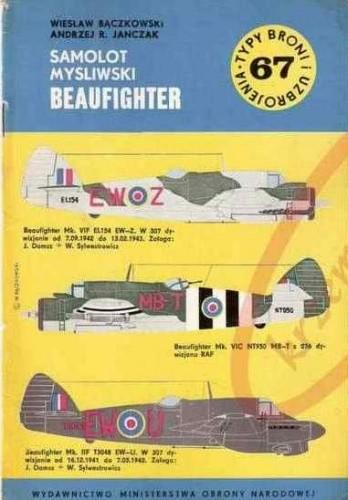 Okładka książki Samolot myśliwski Beaufighter