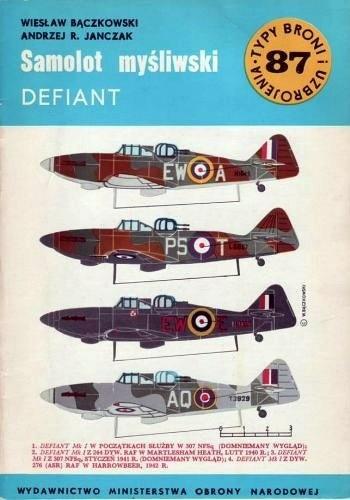 Okładka książki Samolot myśliwski Defiant