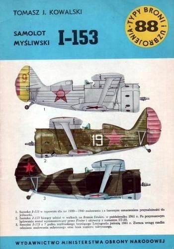 Okładka książki Samolot myśliwski I-153
