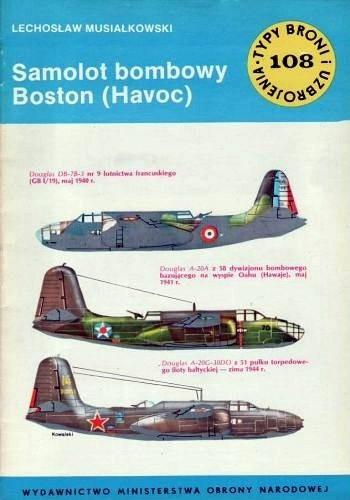 Okładka książki Samolot bombowy Boston (Havoc)
