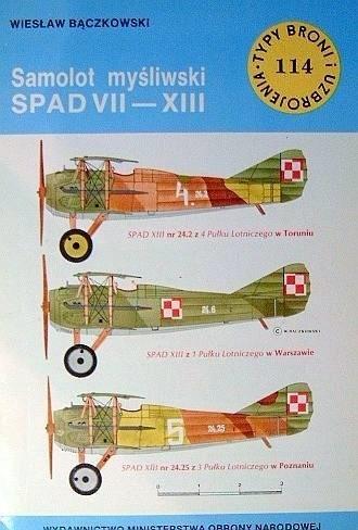 Okładka książki Samolot myśliwski SPAD VII-XIII