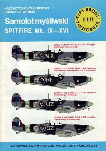 Okładka książki Samolot myśliwski Spitfire Mk.IX-XVI