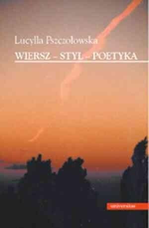 Okładka książki Wiersz-styl-poetyka