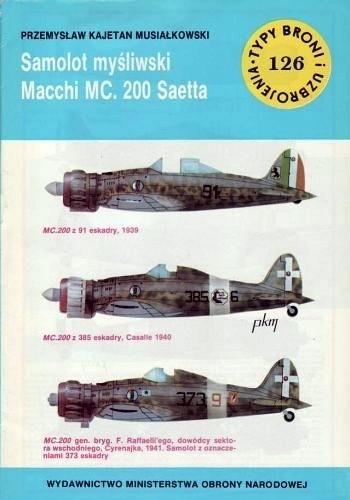 Okładka książki Samolot myśliwski Macchi MC.200 Saetta