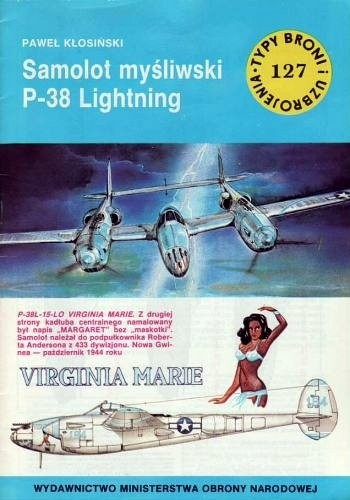 Okładka książki Samolot myśliwski P-38 Lightning