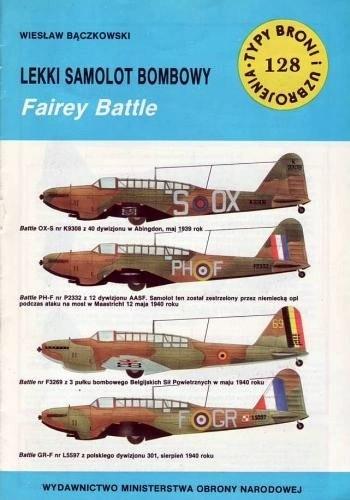 Okładka książki Lekki samolot bombowy Fairey Battle