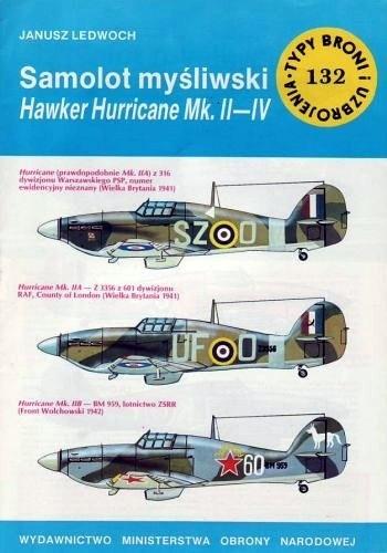 Okładka książki Samolot myśliwski Hawker Hurricane Mk.II-IV