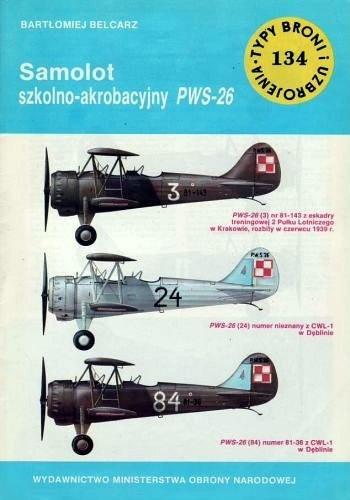 Okładka książki Samolot szkolno-akrobacyjny PWS-26