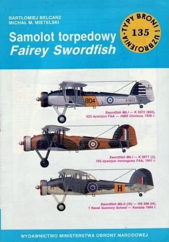 Okładka książki Samolot torpedowy Fairey Swordfish