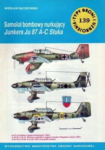 Okładka książki Samolot bombowy nurkujący Junkers Ju 87 A-C Stuka