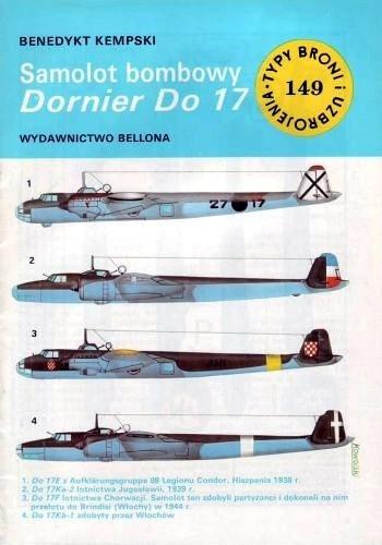 Okładka książki Samolot bombowy Dornier Do 17