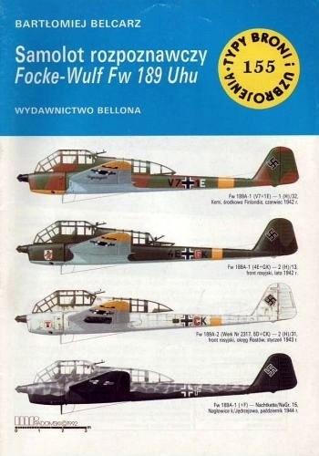 Okładka książki Samolot rozpoznawczy Focke-Wulf Fw 189 Uhu