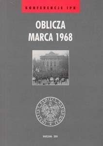 Okładka książki Oblicza Marca 1968