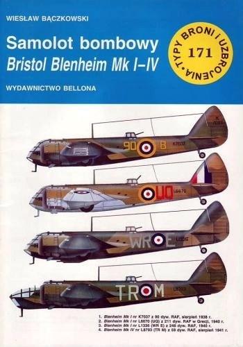 Okładka książki Samolot bombowy Bristol Blenheim Mk I-IV'