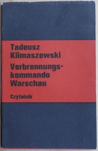 Okładka książki Verbrennungskommando Warschau