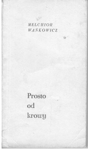 Okładka książki Prosto od krowy