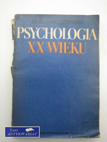 Okładka książki Psychologia XX wieku