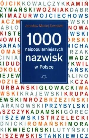 Okładka książki 1000 najpopularniejszych nazwisk w Polsce