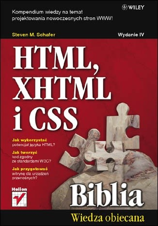 Okładka książki HTML XHTML i CSS Biblia